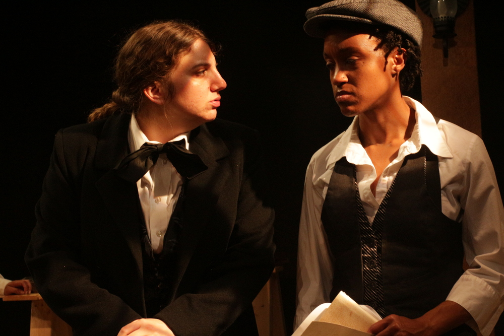 Left to right: Caitlin Gjerdrum as Judah Touro and Robin JaVonne Smith as Anna Lion, featured in Fort Point Theatre Channel's premiere production of Dreambook photo copyright 2016 Roberto Mighty