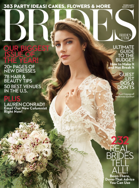 BRIDES magazine, Feb/March 2017