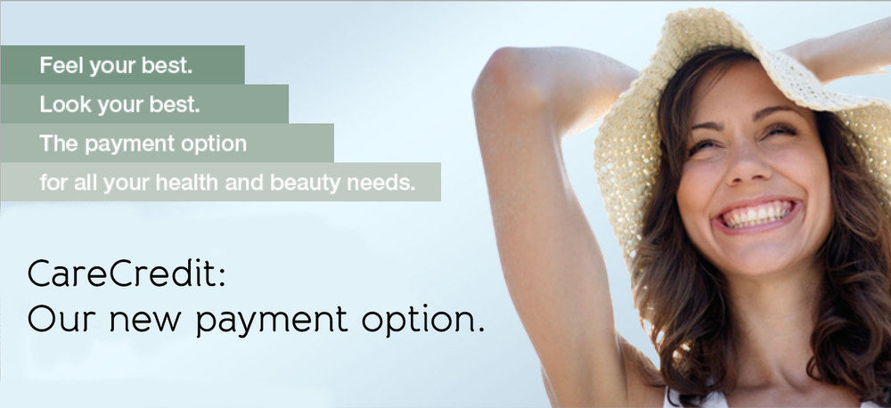 Feel your best. Look your best. CareCredit is the payment option for all your health and beauty needs.