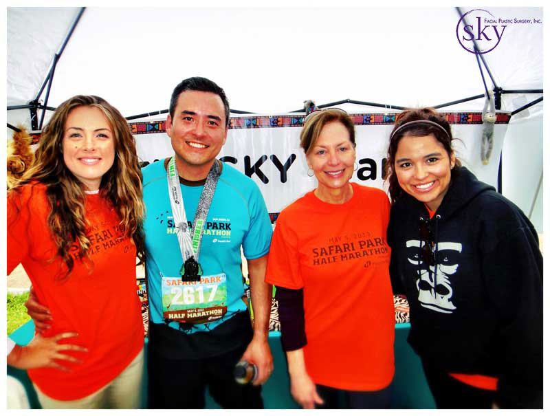 Photo: The SKY Team at the San Diego Zoo Safari Park Half Marathon 2013