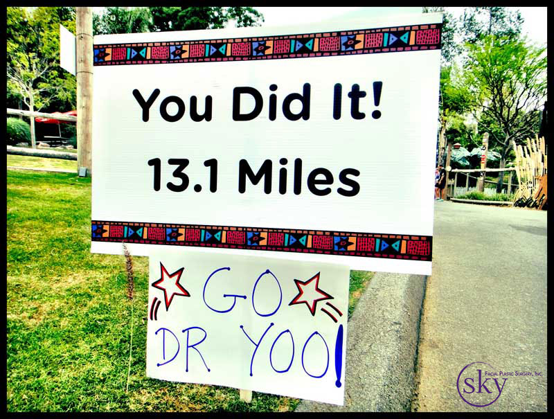Photo: Sign we made for Dr. Yoo.