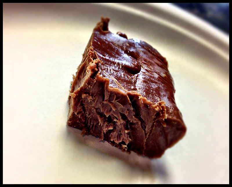 PHOTO: A delicious hunk of fudge, given to us by a grateful patient.