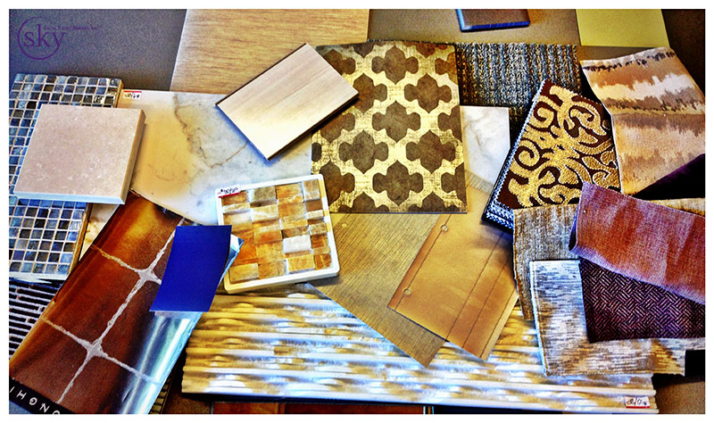 PHOTO: Samples of finishes hand-picked by Studio H for the new 4S Ranch space.