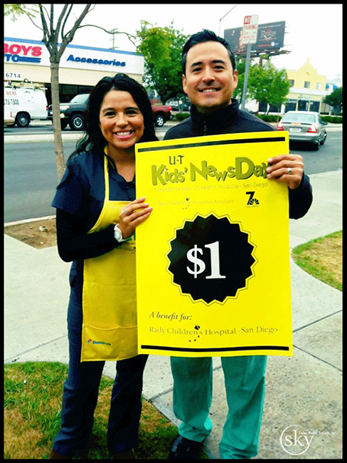 PHOTO: Dr. Yoo and Ariana raise money for Rady Children's Hospital.