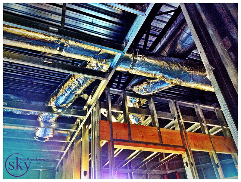 PHOTO: branching of HVAC tubes