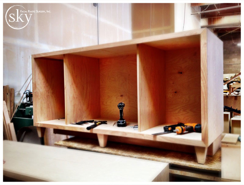 PHOTO: Front view of the credenza for the consultation room.
