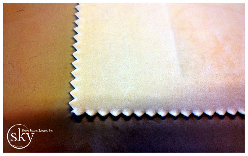 PHOTO: White fabric chosen for valances.