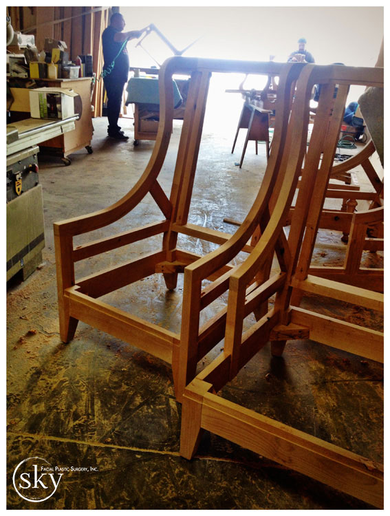 PHOTO: Frame of the chair that will be in the lobby.