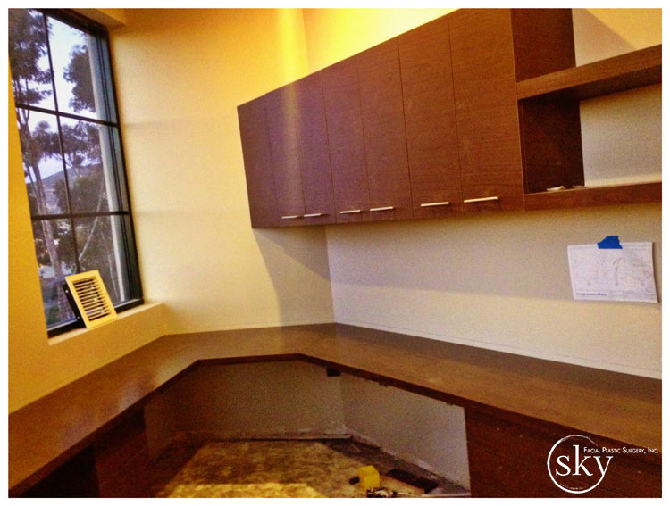 PHOTO: Desk and cabinetry