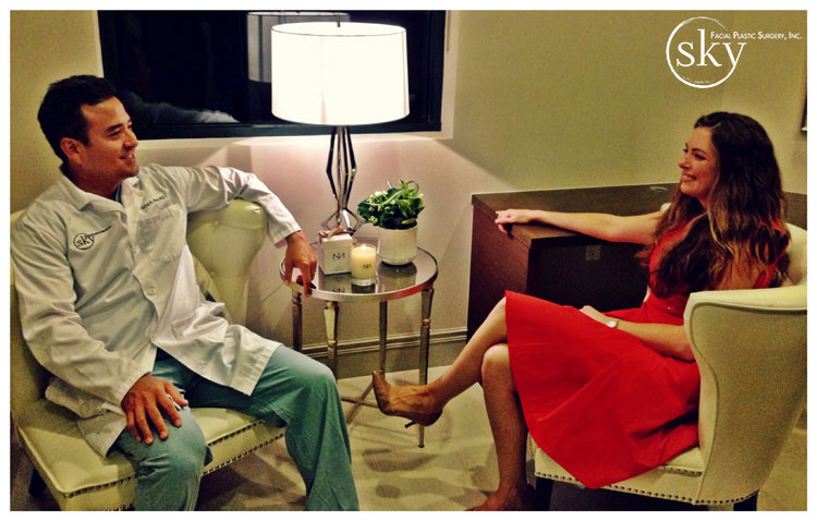 PHOTO: Dr. Yoo and Amber sitting.