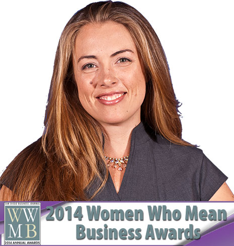 Amber Yoo selected as a finalist for the San Diego Women Who Mean Business Awards