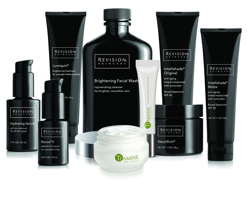 PHOTO: The Revision Skin Care line comes in sleek, black containers.