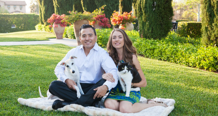 Photo of the Yoo family by Spark Photography