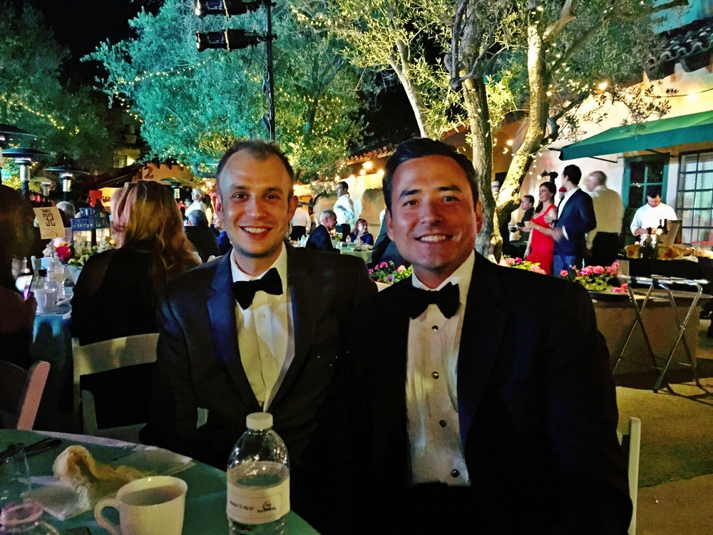 Michael and Dr. Yoo at HWAC's Spring Fling
