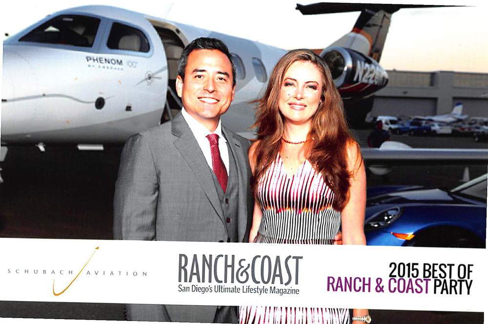 PHOTO: Dr. Yoo and Amber on the red carpet at Ranch & Coast Magazine's Best of San Diego party.