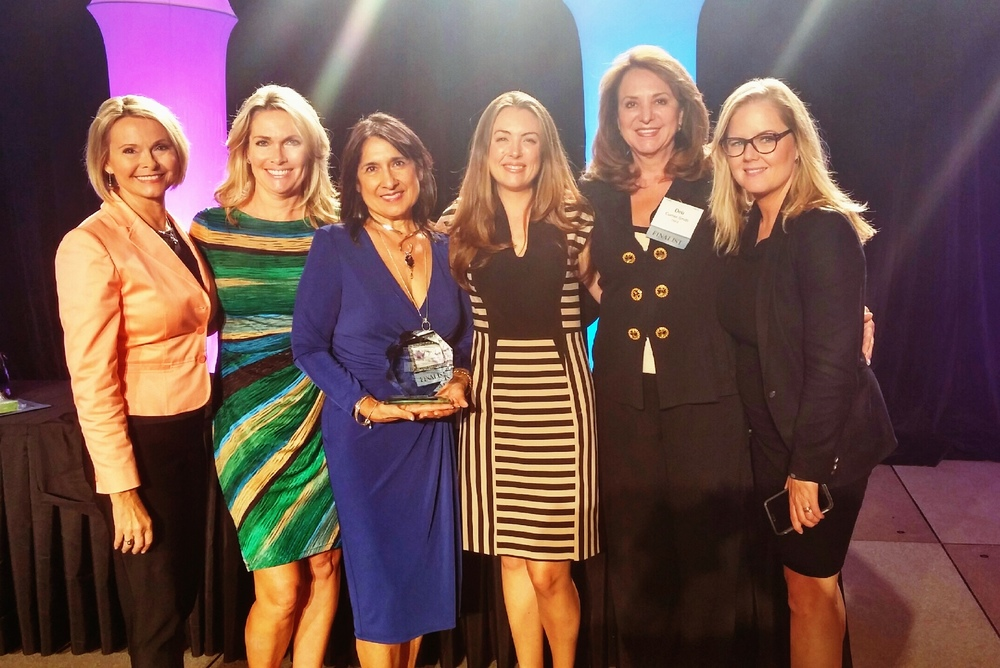 Our VP, Amber, and her fellow finalists for the Women Who Mean Business Award were honored at yesterday's award ceremony. Pictured here: Pat Brown, Cheryl, Judy, Amber, Deb and another finalist.