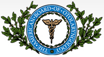 American Board of Otolaryngology logo.