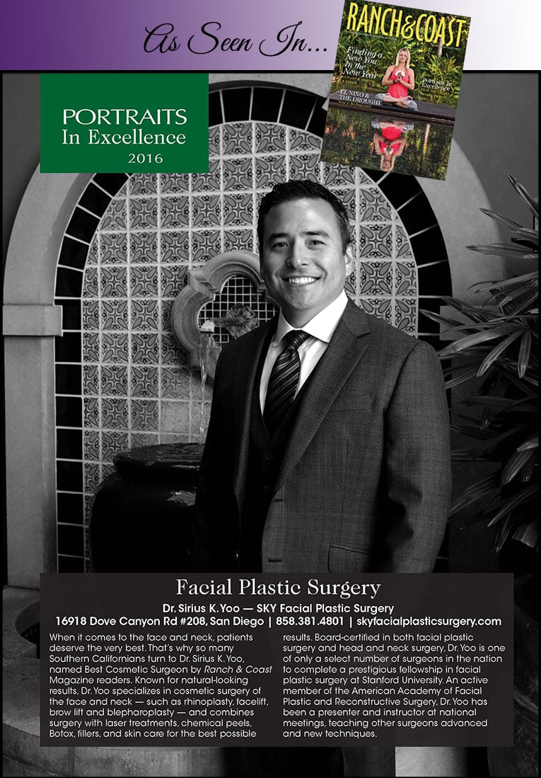 PHOTO: Dr. Sirius K. Yoo featured as a Portraits of Excellence in Ranch & Coast Magazine.