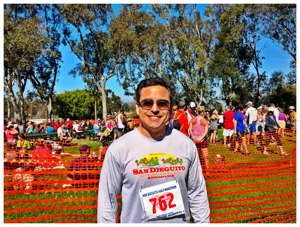 PHOTO: Dr. Yoo runs the San Dieguito Half Marathon.