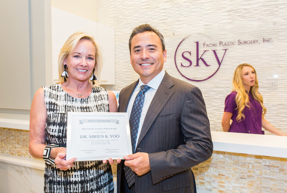 Andrea Naversen, Editor-At-Large for Ranch & Coast Magazine, recognizes Dr. Yoo for being named Best Facial Plastic Surgeon in San Diego for the fourth year in a row!
