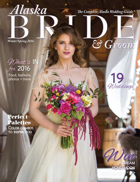 Regularly Featured in Alaska Bride & Groom -