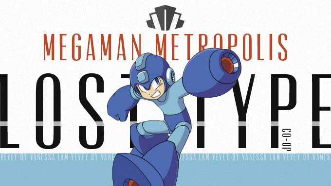 lost type co-op vevey font with megaman!