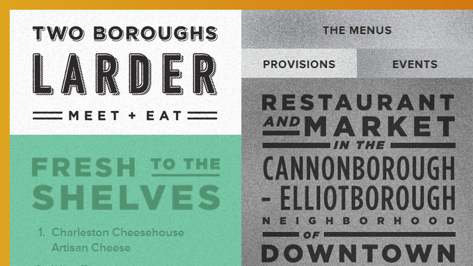 two boroughs larder