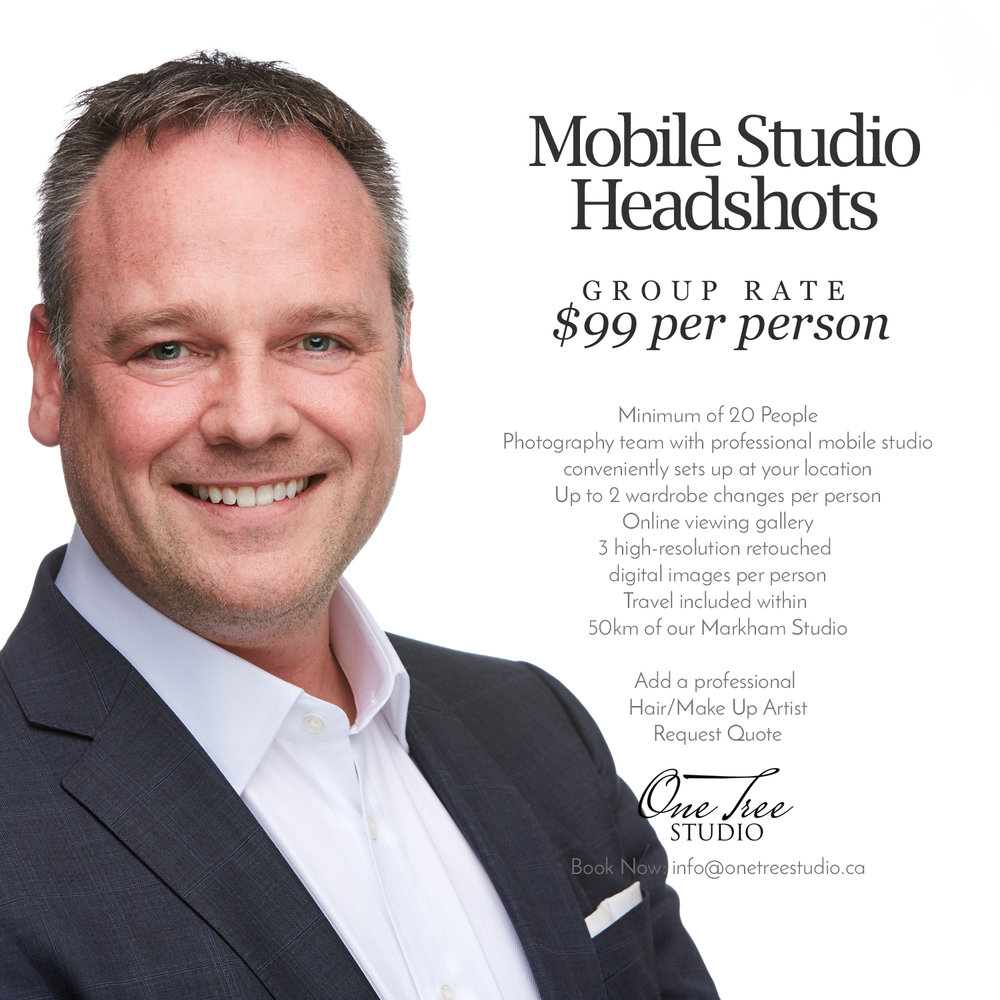 Corporate Headshot Price | Markham Headshot Photographer