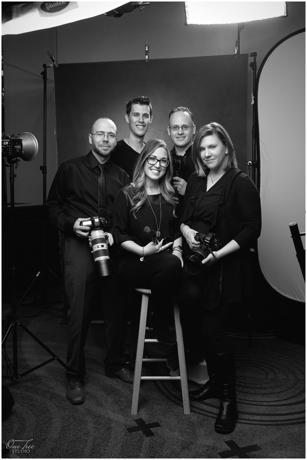 One Tree Studio's headshot team while providing headshots for Rogers Communications in February 2017.