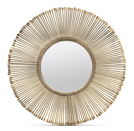 "Dawn Iron/Antique Brass Mirror     32""d   MGDAWN     44""d   MGDAWNL"