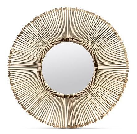 "Dawn Iron/Antique Brass Mirror     32""d   MGDAWN     44""d   MGDAWNL"