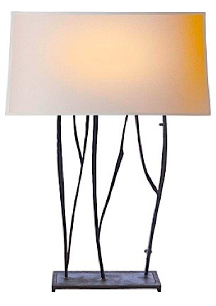 "Aspen Console Lamp in Rust with Natural Paper Shade 16""w x 22.5""h VCS3051BR-NP"