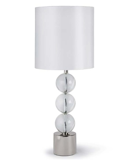 "Triple Crystal Orb Lamp   36.5""h   RD5 -7103"