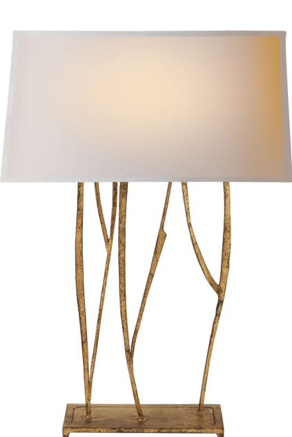 "Aspen Console Lamp in Gilded Iron  16×22.5""h   VCS3051GI"