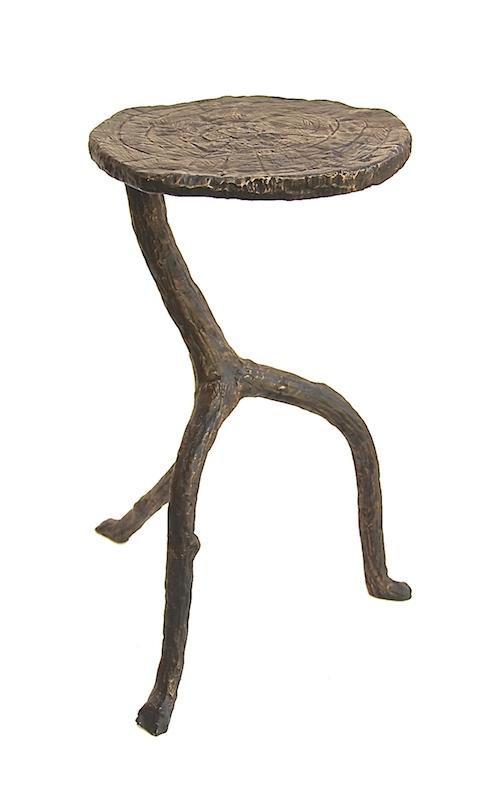 """Iron Walking Sticks Table   12dx22""""h   GV7.80218"""