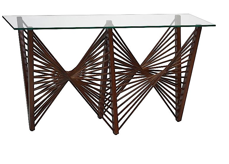Geo Console, Wood, Dark Brown   51×16×32h   OG02 -GEOCNSDB