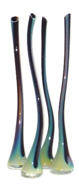 "Glass Wisp Vessel, Blue Iris,   28""h"