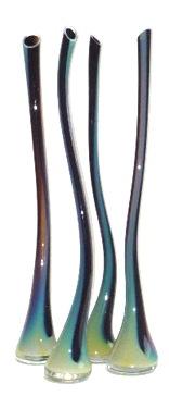 "Glass Wisp Vessel, Blue Iris,   28""h"