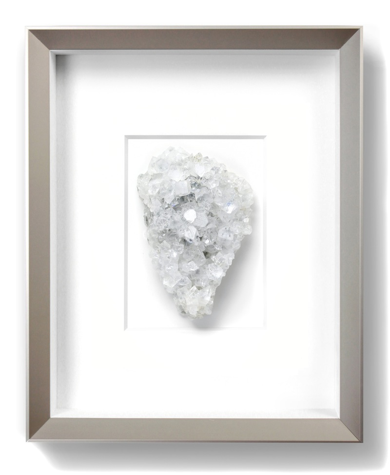 "Framed Mineral   11×14""h   PEMP1     Also available with grey matting and black frame"
