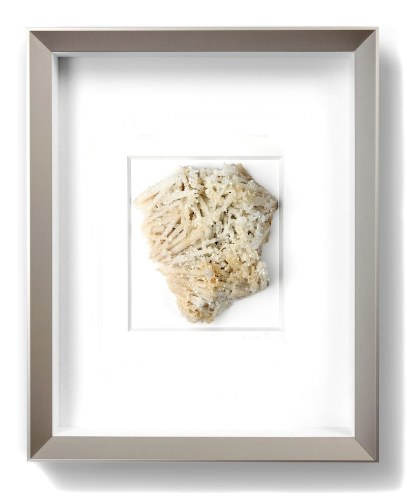 "Framed Mineral   11×14""h   PEMP1     Also available in grey matting with black frame"