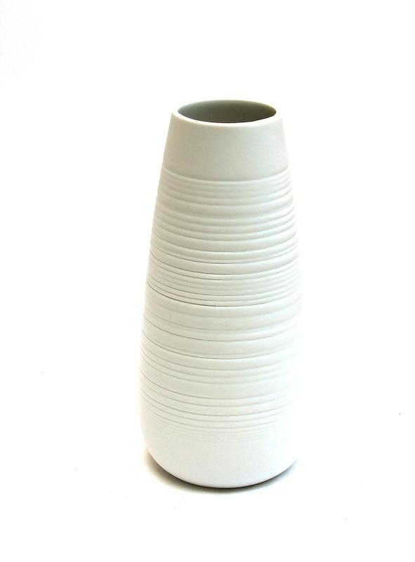 Porcelain Fractal Vase  5×9h   BUPFTVS