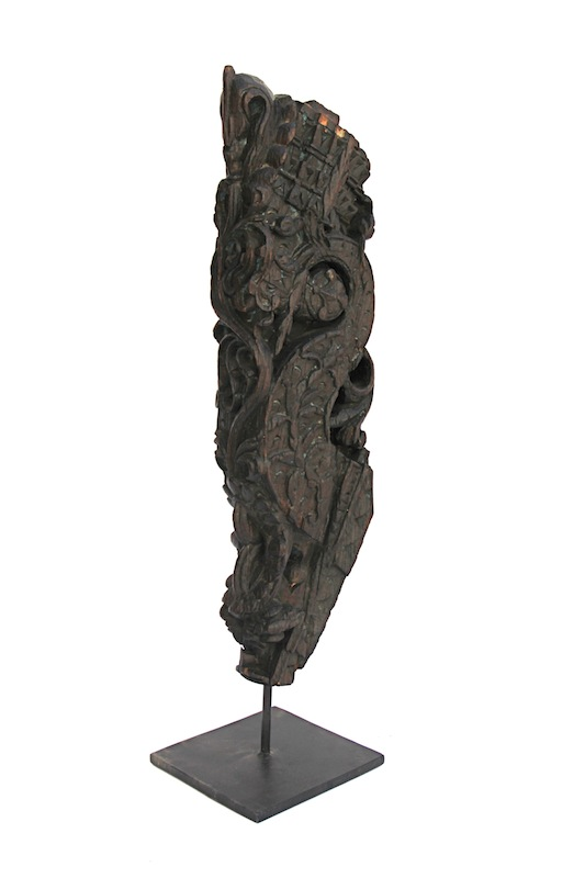 Vintage Architectural Fragment on Stand, India,   8×8x34h+/-   WSHG023