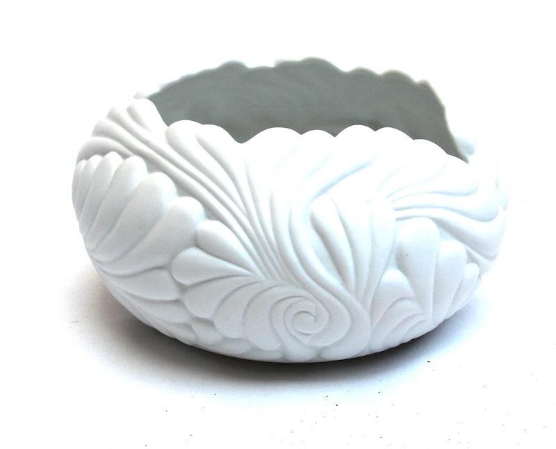 "Porcelain Flamingo Bowl   7×4""h   BUPFMV"