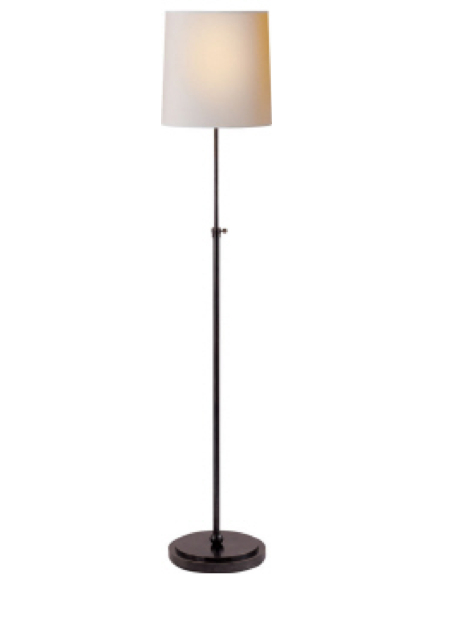 """Bryant Floor Lamp Bronze with Natural Paper Shade 44-60""""h VCTOB1002BZ"""
