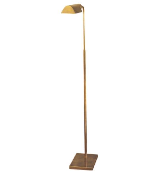 "Studio Adjustable Light Floor Lamp in Hand-Rubbed Antique Brass   34""-45""   VC91025HAB"
