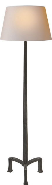"Strie Floor Lamp in Aged Iron  19×63""h   VCCHA9707AI"