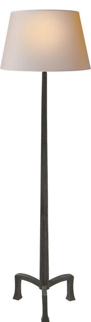"Strie Floor Lamp in Aged Iron  19×63""h   VCCHA9707AI"