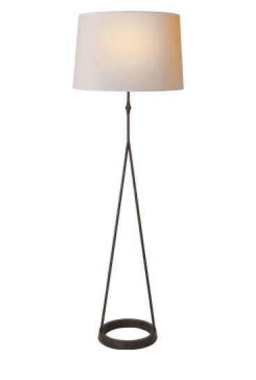 """Dauphine Floor Lamp in Aged Iron   54""""h   VCS1400AI"""