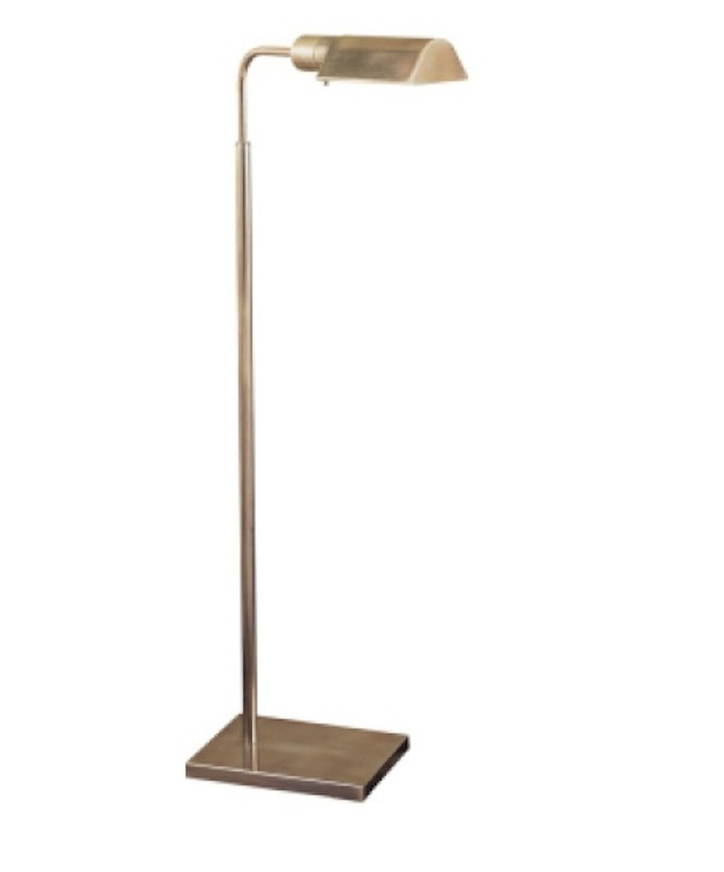 "Studio Adjustable Light Floor Lamp in Antique Nickel   34""-45""h   VC91025AN"