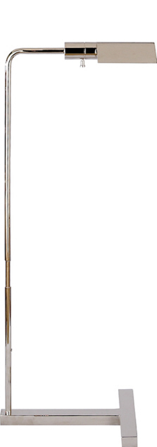 "William Pharmacy Floor Lamp Polished Nickel  Adjustable Height 33"" - 41¼""   VCSP1508PN"